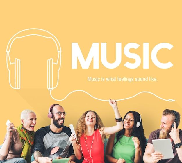 Música, estilo de vida, lazer, conceito de entretenimento
