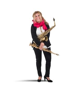 Músico e trompete
