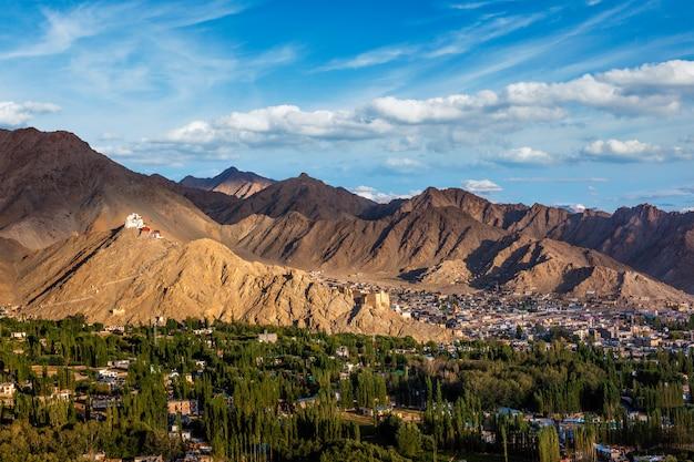 Namgyal tsemo gompa e forte. ladakh, índia