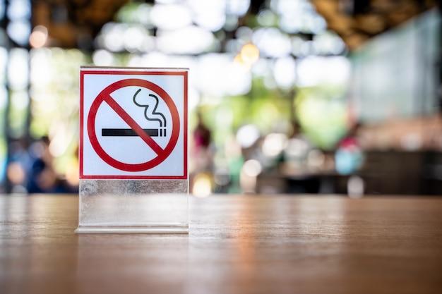 Não fume sinal não fume sinal no café café