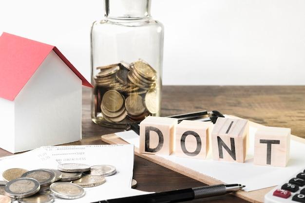 Não gaste dinheiro conselhos