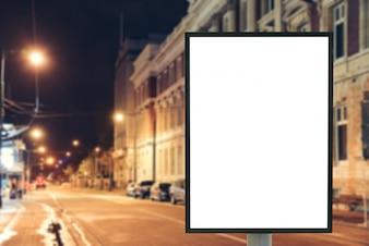 Não mockup pública cartaz da noite