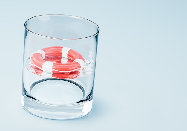 Não se afogue em um copo d'água