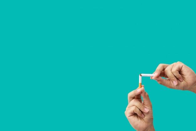 Não se pode fumar no modelo verde