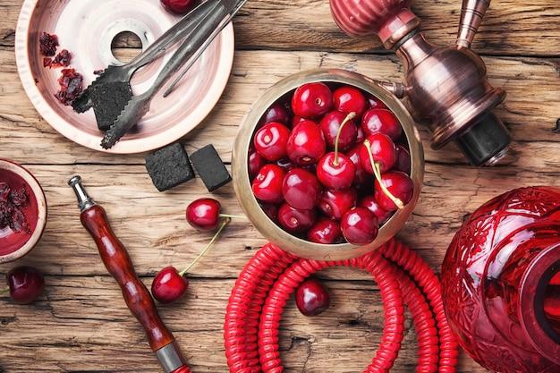 Narguilé shisha com cereja
