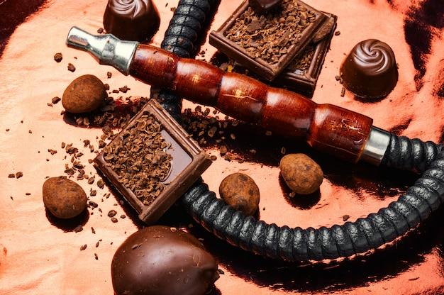 Narguilé shisha com chocolate