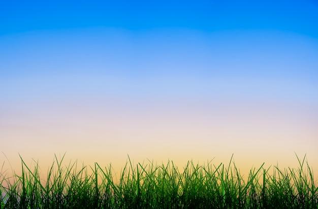 Nascer do sol abstrato do inclinação no céu com a atmosfera da manhã antes do nascer do sol.