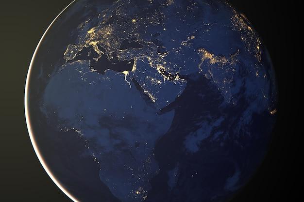 Nascer do sol da terra visto do espaço.