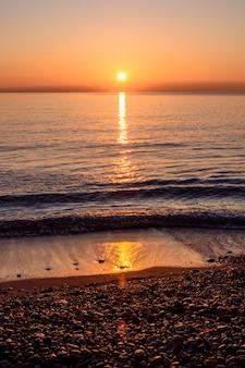 Nascer do sol na praia