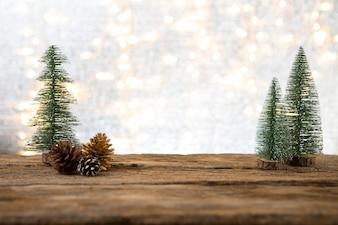 Natal, ano novo, com, presente, presente, árvore pinho, fundo comemorar, tempo, de, feliz, ocasião especial