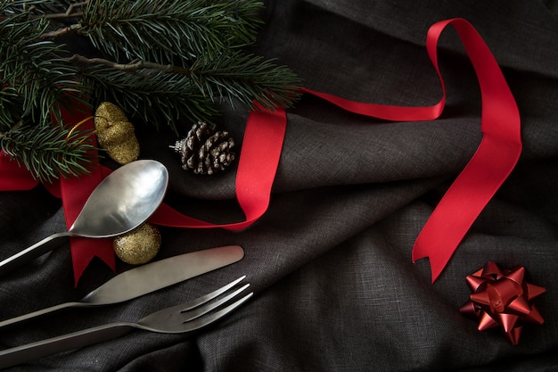 Natal ano novo festa mesa jantar fundo comemorar o tempo