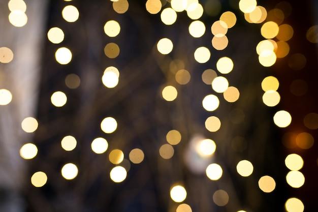 Natal borrada ilumina o fundo