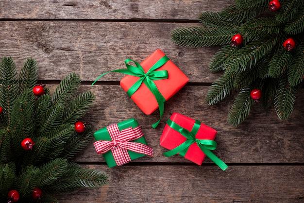 Natal com caixas de presente