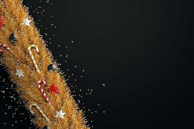 Natal com luzes douradas bokeh. cartão de natal.