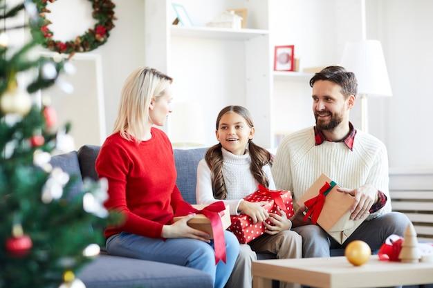 Natal com os pais