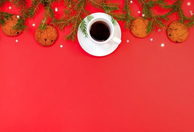 Natal com ramos de pinheiro