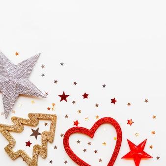Natal e ano novo com decorações
