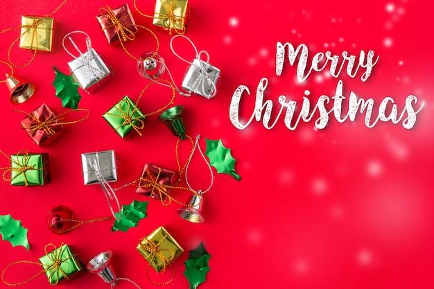Natal e ano novo fundo na vista superior