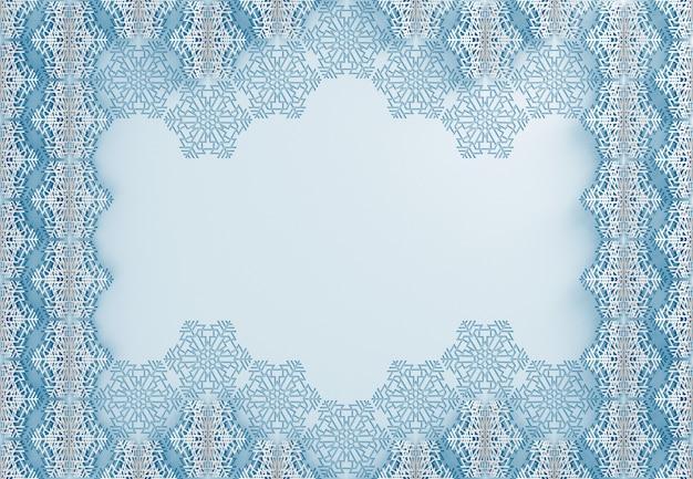 Natal e ano novo padrão de flocos de neve de papel, corte de papel
