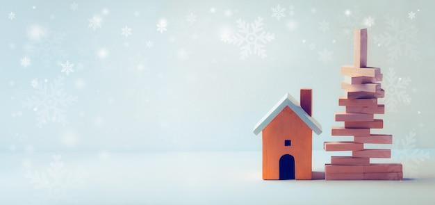 Natal em casa elegante em fundo branco