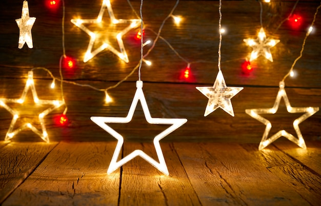 Natal floco de neve estrela vintage rústico