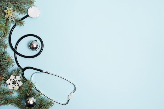 Natal médico com estetoscópio