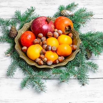 Natal natureza morta com citrus