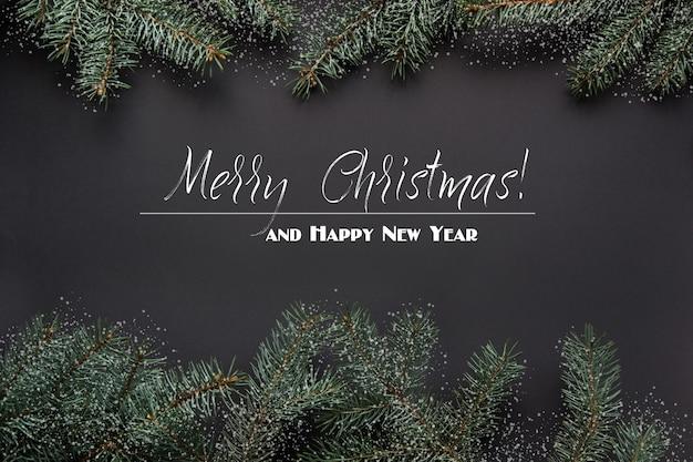 Natal ou ano novo fundo preto.