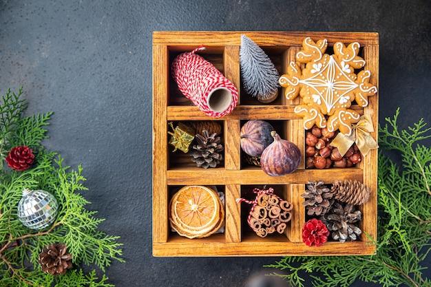 Natal pão de gengibre biscoito caseiro doce sobremesa presente ano novo cartão pastéis biscoito comida