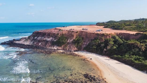 Natal, rio grande do norte, brasil - 12 de março de 2021: chapadão de pipas no rio grande do norte