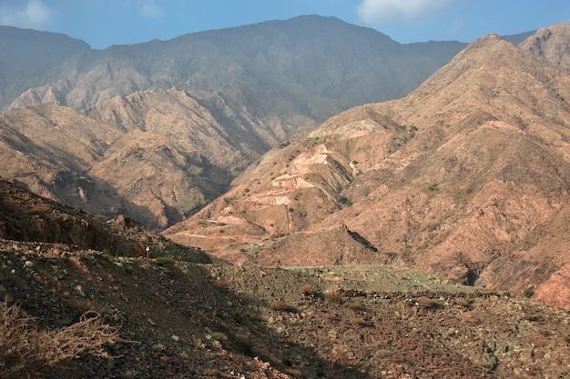 Natureza das montanhas hejaz, arábia saudita