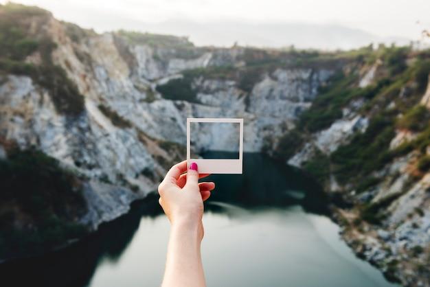 Natureza de lazer de paisagem vista de quadro