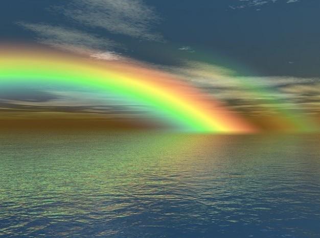 Natureza do arco-íris cores de água do mar oceano cores