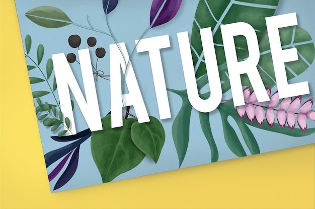 Natureza meio ambiente conceito natural de crescimento da terra verde