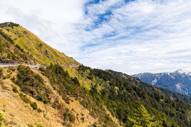 Natureza, montanhas e florestas em hehuanshan taiwan