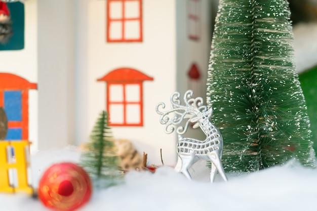 Natureza morta de natal festiva com fundo brilhante