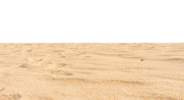 Natureza praia areia de textura di-cut em branco