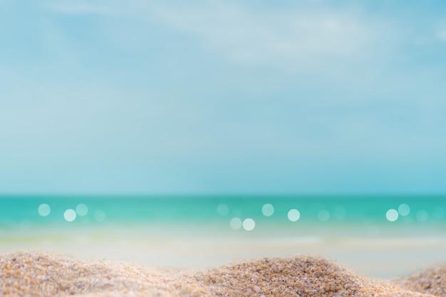 Natureza tropical praia limpa e areia branca no verão