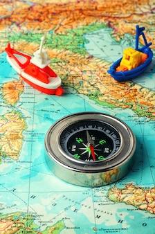 Navegador de mapa marinho