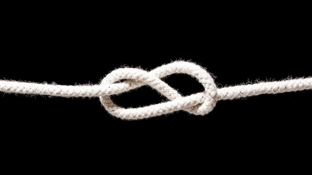 Navio cordas brancas nó simples