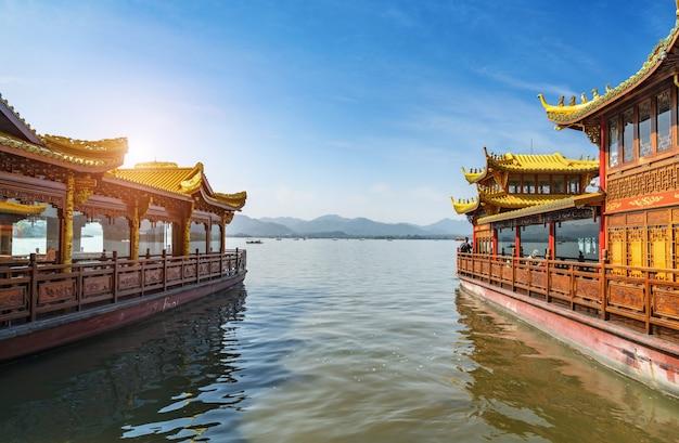 Navio de cruzeiro west lake hangzhou