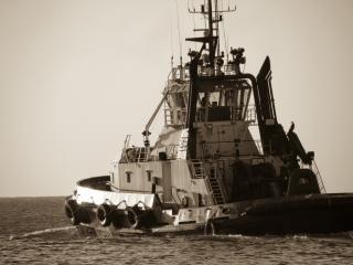 Navio, o mar
