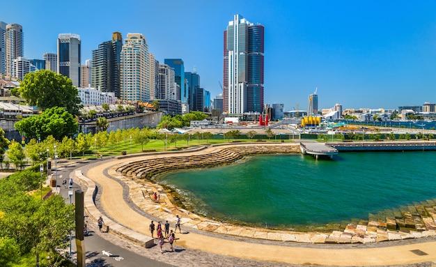 Nawi cove no distrito de barangaroo em sydney Foto Premium