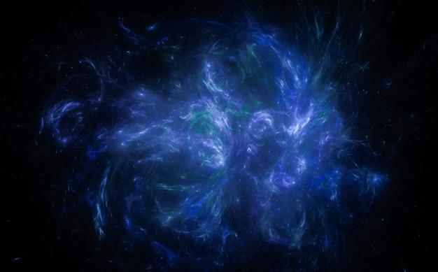 Nebulosa brilhante no céu escuro