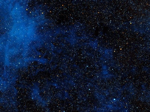 Nebulosa cósmica azul brilhante. textura de fundo. os elementos desta imagem foram fornecidos pela nasa. para qualquer propósito.