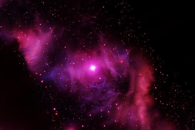 Nebulosa de espaço vermelho brilhante. os elementos desta imagem foram fornecidos pela nasa. foto de alta qualidade