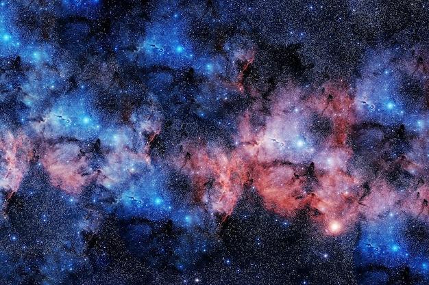 Nebulosa do espaço azul. os elementos desta imagem foram fornecidos pela nasa. foto de alta qualidade