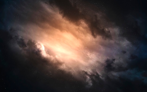 Nebulosa. imagem do espaço profundo, fantasia de ficção científica em alta resolução ideal para papel de parede e impressão. elementos desta imagem fornecidos pela nasa