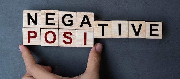 Negativo à palavra positiva no fundo da tabela.