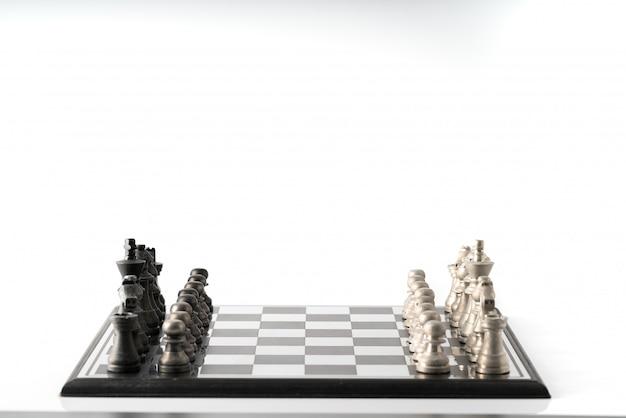 Negócio de xadrez, trabalho em equipe líder e sucesso